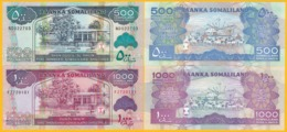 Somaliland Set 500 & 1000 Shillings 2015-2016 UNC Banknotes - Somalia