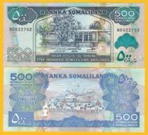 Somaliland 500 Shillings P-6 2016 UNC Banknote - Somalië