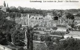 CPA LUXEMBOURG LES ROCHERS DU BOCK DIE BOCKFELSEN N°101 EDIT ART. P.C. SCHOREN LUXEMBOURG GARE - Luxemburg - Town