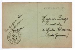 CPA - CACHET A DATE : MARTRES (HAUTE-GARONNE) Sur CPA MONTREJEAU - 1877-1920: Periodo Semi Moderno