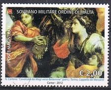 2012 - S.M.O.M. - DIPINTO DI NICCOLO' CARLONE / PAINTING OF N. CARLONE. USATO / USED - Sovrano Militare Ordine Di Malta
