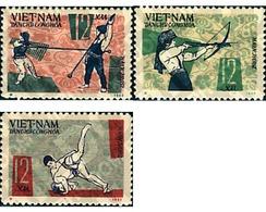 Ref. 37693 * MNH * - NORTH VIETNAM. 1966. NATIONAL SPORTS GAMES . JUEGOS DEPORTIVOS NACIONALES - Tir à L'Arc