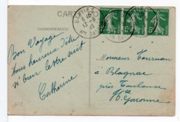 CPA - CACHET A DATE : GANTIES (HAUTE-GARONNE) Sur CPA GANTIES - 1877-1920: Periodo Semi Moderno