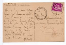 CPA - CACHET A DATE : MAURS DU CANTAL (CANTAL) Sur CPA BOISSET - 1877-1920: Periodo Semi Moderno