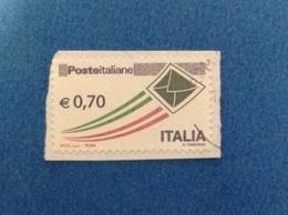 2013 ORDINARIO BUSTA 0,70 ITALIA FRANCOBOLLO USATO STAMP USED - 2011-...: Used