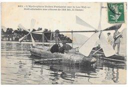 Cpa...l'hydroplane Italien Forlanini Sur Le Lac Majeur..doit Atteindre Une Vitesse De 125 K/h...animée...1910... - Sonstige