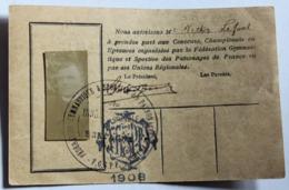Carte + Photo Fédération Gymnastique Et Sportive Des Patronages De France FGSPF Victor Lefoul 1908 Saint Méen Bretagne - Gymnastique