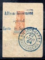 MADAGASCAR - YT N° 86 Sur Fragment - Cote: 75,00 € - Cachet Diego Suarez - Madagascar (1889-1960)