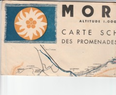 MORZINE CARTE SCHEMATIQUE DES PROMENADES FORMAT 41 X 30 - Autres Collections