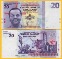 Swaziland 20 Emalangeni P-37c 2017 UNC Banknote - Swaziland