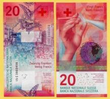 Switzerland  20 Franken P-76 2015(2017) Sign. Studer & Danthine UNC Banknote - Suiza