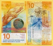 Switzerland 10 Franken P-75 2016(2017) Sign. Studer & Jordan UNC Banknote - Zwitserland