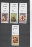 POLYNESIE Française - Artistes En Polynésie - Tableaux De E. Lux, Uschi, P. Kienlen, O. Morillot - Avecvignettes - Polynésie Française