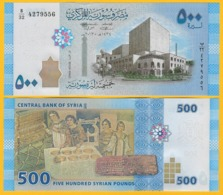 Syria 500 Lira P-115 2013 UNC Banknote - Siria
