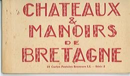 CARNET DE 10 CARTES - Châteaux Et Manoirs De BRETAGNE - - Bretagne
