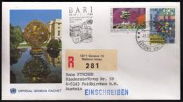 United Nations Geneva 1990 / BARI / Philatelic Exhibition / Cachet Cancel / R Letter - Esposizioni Filateliche