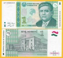 Tajikistan 1 Somoni P-14A 1999 UNC Banknote - Tadzjikistan