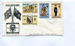 FALKLAND ISLANDS DEFENCE FORCE GOLDEN JUBILEE - 1970 FDC FIRST DAY COVER - LILHU - Briefmarken