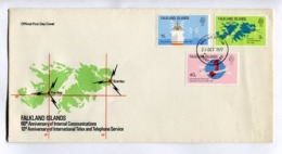 FALKLAND ISLANDS, 60th ANNIVERSARY OF INTERNAL COMMUNICATIONS - 1977 FDC FIRST DAY COVER - LILHU - Briefmarken