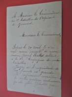 Lettre De Parent Inquiet Sans Nouvelle D Un Zouave + Reponse Du Commandant 2 Bataillon 3 Eme Regiment ZOUAVES Juin 1915 - 1914-18