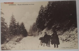 01 Oyonnax - Route D'échallon En Hiver - Oyonnax