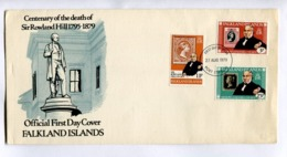 CENTENARY OF THE DEATH OF SIR ROWLAND HILL - 1979 FALKLAND ISLANDS FDC FIRST DAY COVER - LILHU - Briefmarken