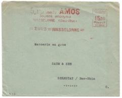 R82 - WASSELONNE - 1953 - Etablissements AMOS - E.M.A. Machine SC 0805 - - Alsace-Lorraine