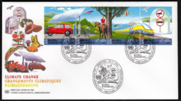 United Nations Wien Vienna 2001 / Climate Change / Car, Bicycle, Horse, Air Ship, Baloon, Train, Lighthouse, Seagul - Klima & Meteorologie