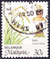 Malaiische Staaten V- Selangor - Schwarzer Pfeffer (Piper Nigrum) (MiNr: 135 A) 1986 - Gest Used Obl - Selangor