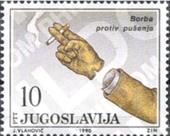 Ref. 287470 * MNH * - YUGOSLAVIA. 1990. FIGHT AGAINST CIGARETTE SMOKING . LUCHA CONTRA EL TABAQUISMO - Unclassified