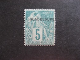 A). Guadeloupe: TB N°17, NSG. - Unused Stamps