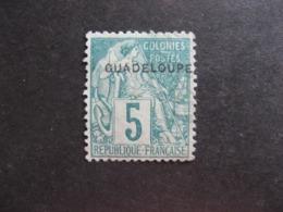 A). Guadeloupe: TB N°17, NSG. - Guadeloupe (1884-1947)