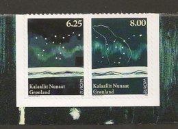 "GROENLANDIA/ GREENLAND7 GRÖNLAND - EUROPA 2009 - TEMA ""ASTRONOMIA"" - SERIE De 2 V.. ADHESIVOS - Perf. 121/4 X 12 1/2 - Europa-CEPT"