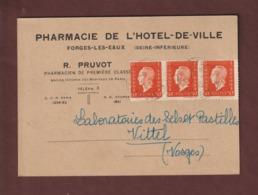 685 De 1945 - Marianne De Dulac - Carte . Pharmacie De L' Hôtel De Ville . R.PRUVOT à FORGES LES EAUX 76 - Posté En 1945 - 1921-1960: Periodo Moderno