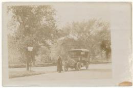 MANCHESTER, MA - Carte Photo - Automobile - Etats-Unis