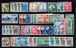 Allemagne/ZOF Belle Collection Des Trois Zones 1945/1949. Bonnes Valeurs. B/TB. A Saisir! - French Zone