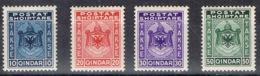 DO 7466 ALBANIË  SCHARNIER TAXE YVERT NRS 30/33 ZIE SCAN - Albanië