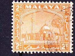 Malaiische Staaten V - Selangor - Moschee Und Palast In Klang (MiNr: 33) 1941 - Gest Used Obl - Selangor
