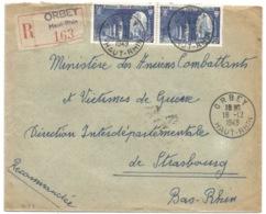 R88 - ORBEY - 1949 - Recommandé Tarif Correct à 50 Francs - - Marcophilie (Lettres)