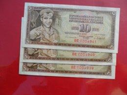 Yugoslavia-Jugoslavija 10 Dinara 1981, P-53b, Numbers In A Row - - - 100130 - - - - Jugoslavia