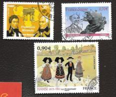 TIMBRES FRANCAIS..OBLITERATION RONDE....LOT DE TROIS TIMBRES N°4393/4400/4408....2009.....SCAN - France