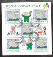 BLOC FRANCAIS OBLITERATION RONDE...JOYEUX ANNIV BABAR...2006...N° 100.....SCAN - Oblitérés