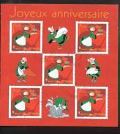BLOC FRANCAIS OBLITERATION RONDE...JOYEUX ANNIV....BECASSINE...N° 83...2005.....SCAN - Oblitérés