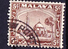 Malaiische Staaten V - Selangor - Moschee Und Palast In Klang (MiNr: 36) 1935 - Gest Used Obl - Selangor
