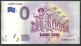 Billet 0 Euro 2018 - 2  Bande Dessinnée LUCKY LUKE - EURO