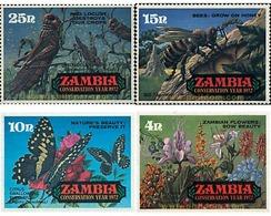 Ref. 98194 * MNH * - ZAMBIA. 1972. YEAR OF ENVIRONMENT CONSERVATION . AÑO DE LA CONSERVACION DE LA NATURALEZA - Zambie (1965-...)