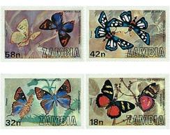 Ref. 76774 * MNH * - ZAMBIA. 1980. BUTTERFLIES . MARIPOSAS - Zambie (1965-...)