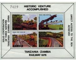 Ref. 60118 * MNH * - ZAMBIA. 1976. INAUGURATION OF THE ZAMBIA-TANZANIA RAILWAY . INAUGURACION DEL FERROCARRIL ZAMBIA-TAN - Zambie (1965-...)