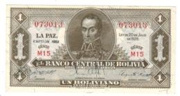 Bolivia 1 Boliviano 1928. AUNC/UNC - Bolivië