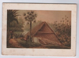 T42) CPSM Guyane Française  Meilleurs Voeux (carbet) Carte Double écrite - Guyane